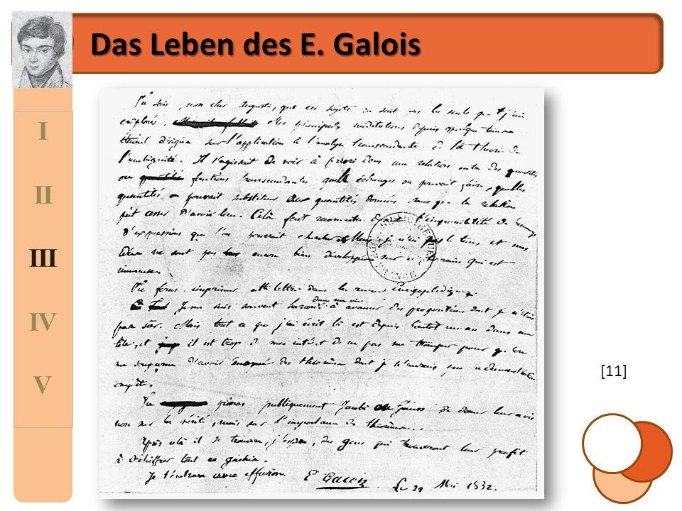 Das Leben des E. Galois I II III IV V [11]